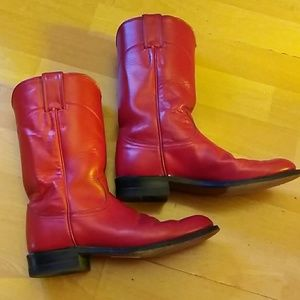 Red Justin Boots size 5 and 1/2
